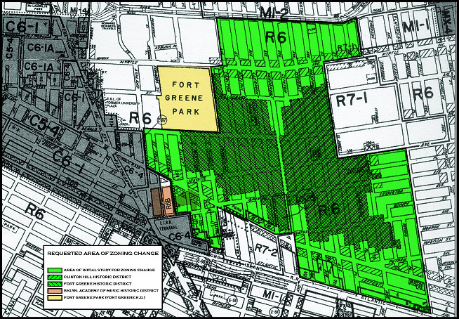 On July 25 2007 The Fort Greene Clinton Hill Rezoning Protection Was Approved By City Council Protected Area Includes 99 Blocks Of
